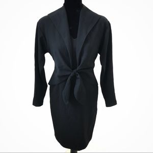 Vintage Jones New York Black Faux Dress Suit Sz 4